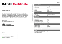 Basix assessments for Water efficiency certificate template